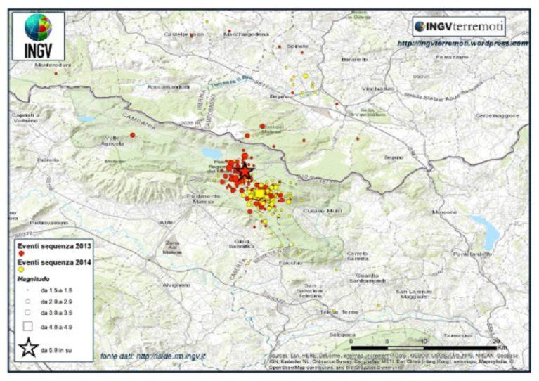 Magma nel matese, l'Ingv chiarisce: pericolosità sismica dell'area invariata