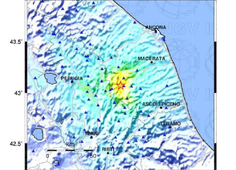 Il terremoto di magnitudo 4,7 in provincia di Macerata spiegato dall'Ingv