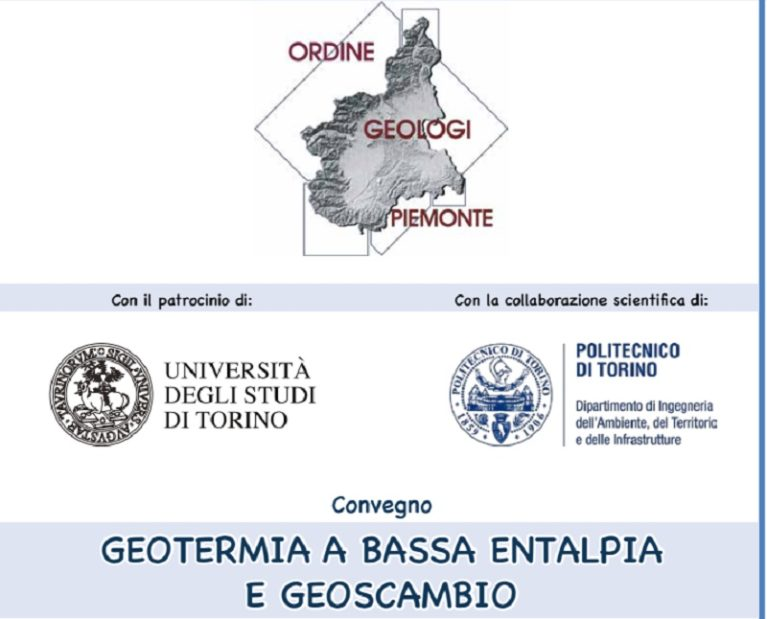 "Convegno ""Geotermia a bassa entalpia e geoscambio"""