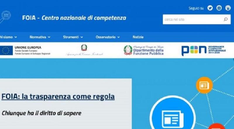 Diritto di accesso civico generalizzato dei cittadini (FOIA): online il sito esplicativo