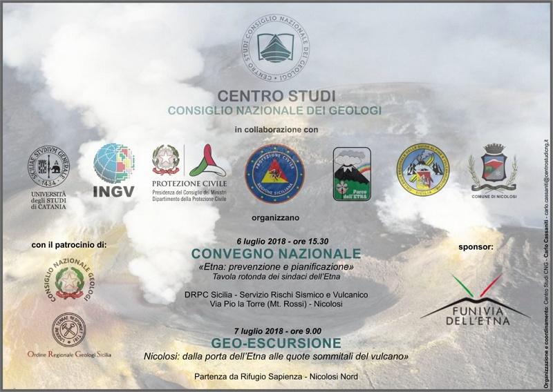 6/7 luglio 2018 – Etna: prevenzione e pianificazione: due giorni di formazione per i geologi