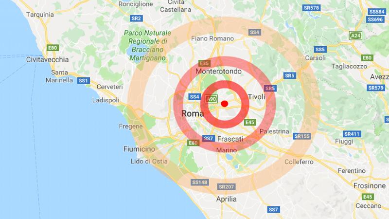 Terremoto a est di Roma molta paura, nessun ferito