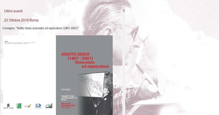 Convegno: Ardito Desio (1897-2001) – Scienziato ed Esploratore