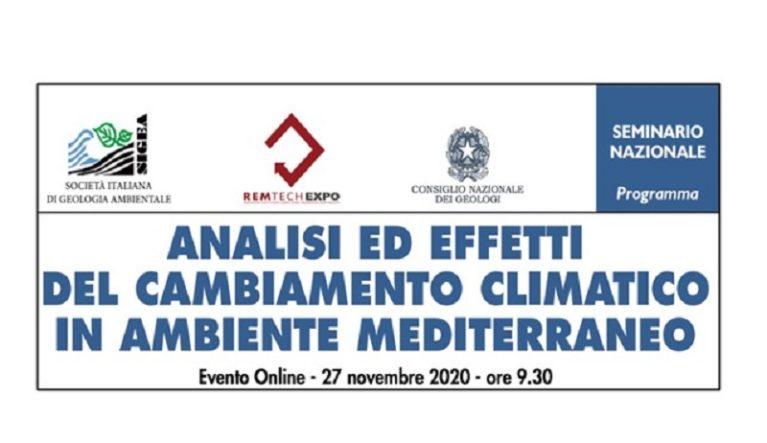 Analisi ed effetti del cambiamento climatico in ambiente mediterraneo