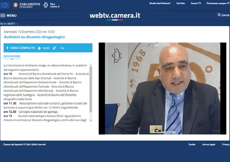Il Presidente Violo in audizione alla VIII Commissione (Ambiente, territorio e lavori pubblici) della Camera dei Deputati
